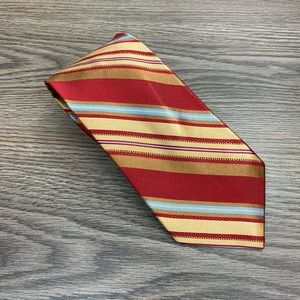 Jos A Bank Signature Red & Gold Twill Tie